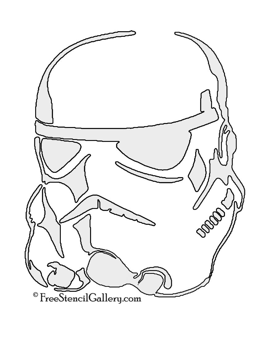 Stormtrooper Helmet Stencil | May The Force Be Will You | Pinterest ...