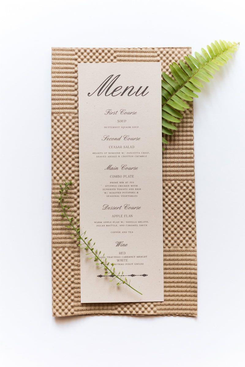 "Beautiful Vintage Cardboard Wedding Menu and Stationery   ""LOVE IS A ..."