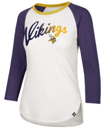 6efafa15c86  47 Brand Women s Minnesota Vikings Splitter Ombre Raglan T-Shirt -  White Purple L.