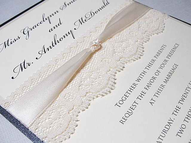 Diy do it yourself lace wedding invitations almost complete items similar to diy do it yourself lace wedding invitations almost complete kit on etsy solutioingenieria Image collections