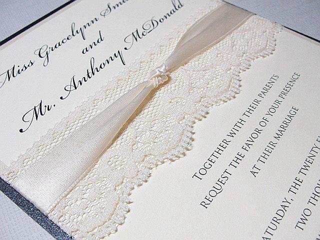 Diy do it yourself lace wedding invitations almost complete diy do it yourself lace wedding invitations almost complete kit 40000 solutioingenieria Gallery