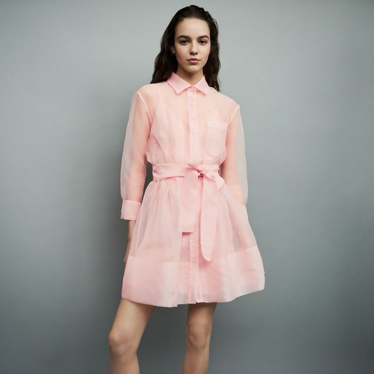 bd7abba6d4c44c Maje Organza shirt dress in 2019 | Styled | Femme | Organza dress ...