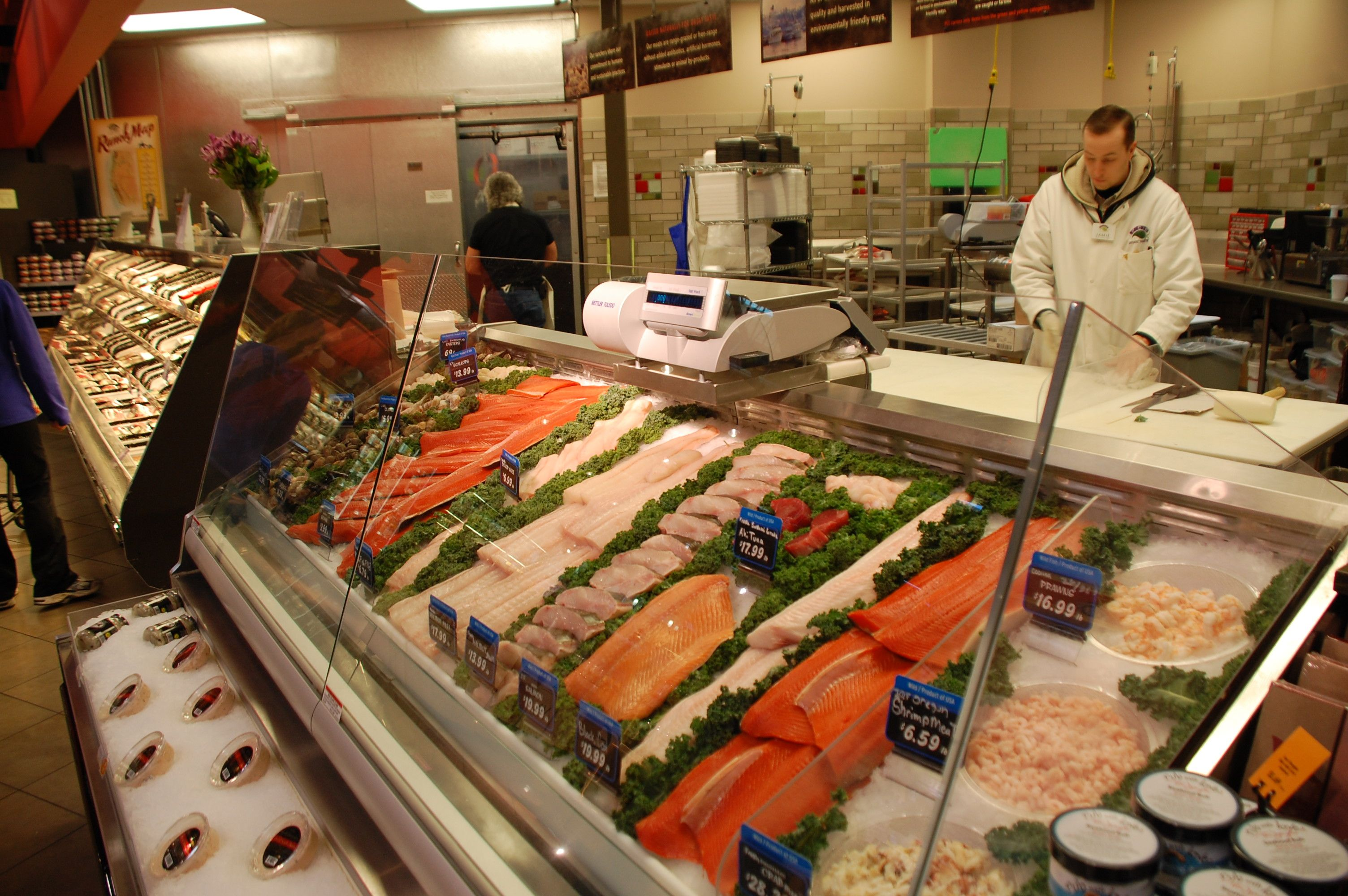 The seafood counter at Edmonds PCC. We carry only ...