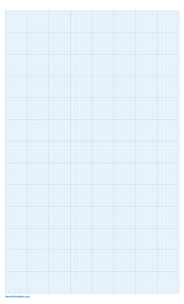 Printable 16 Squares Per Inch Blue Graph Paper For Legal Paper Free Download At Https Museprintables Com D Graph Paper Printable Graph Paper Printable Paper
