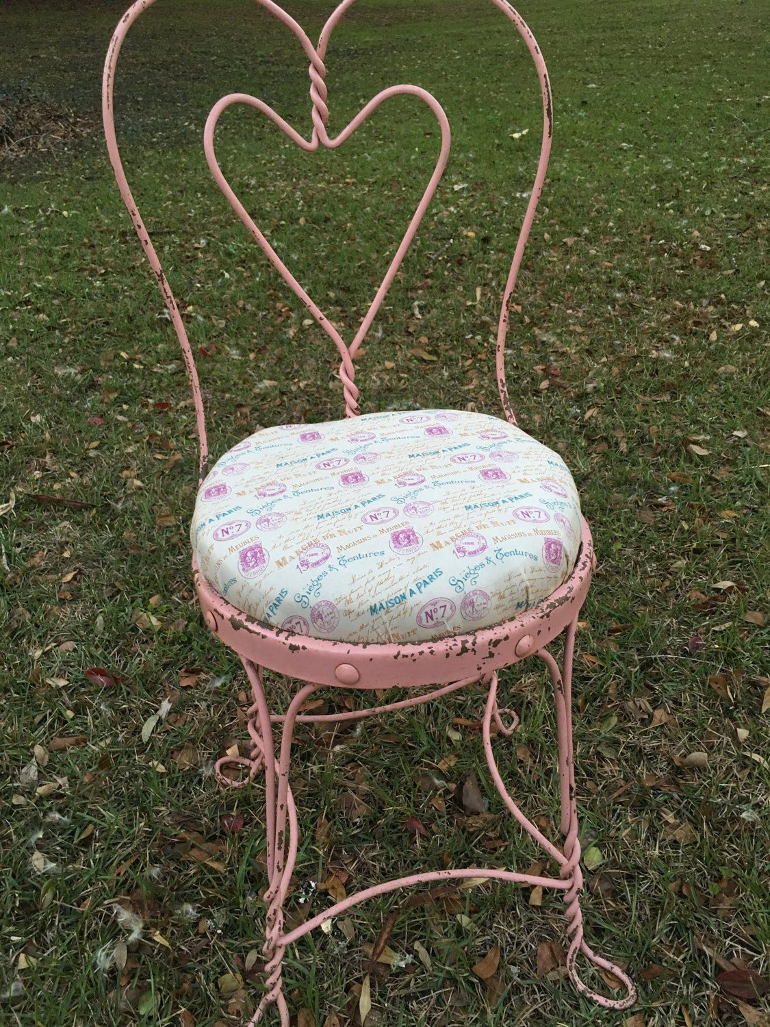 Wrought Iron A Parlor Chair Vanity Chair Shabby Chic Pink Spring Valentine Gift By Maggiebleus On Ets Vanity Chair Rustic Shabby Chic Decor Rustic Vanity