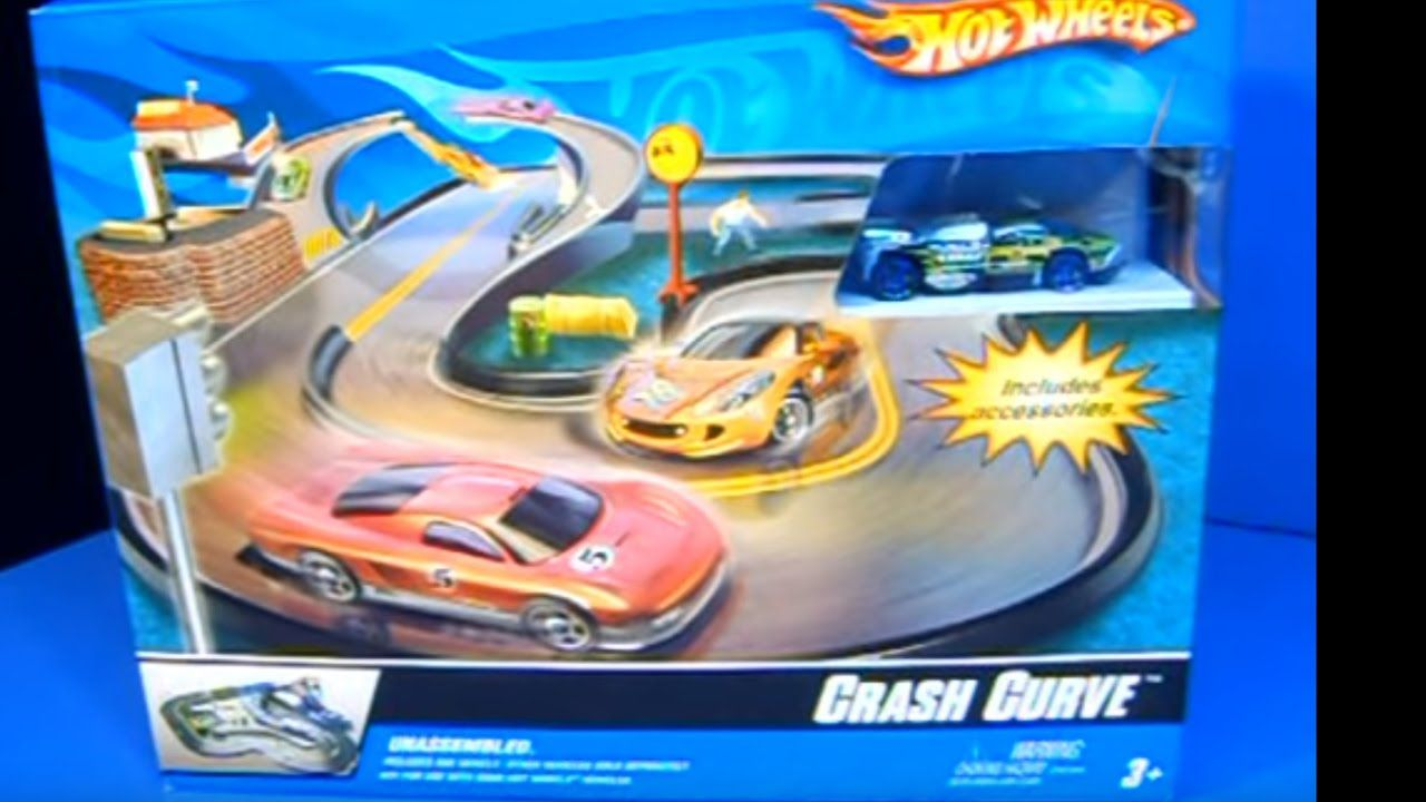 Vintage Hot Wheels Crash Curve Hot Wheels track set review on the ...