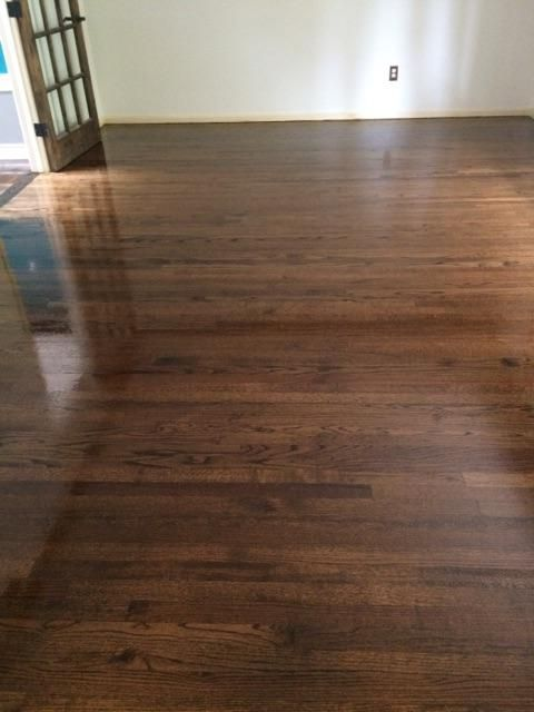 We Recently Installed Brand New Red Oak Hardwood Floors In Marlborough MA Used Dark Walnut StainDark