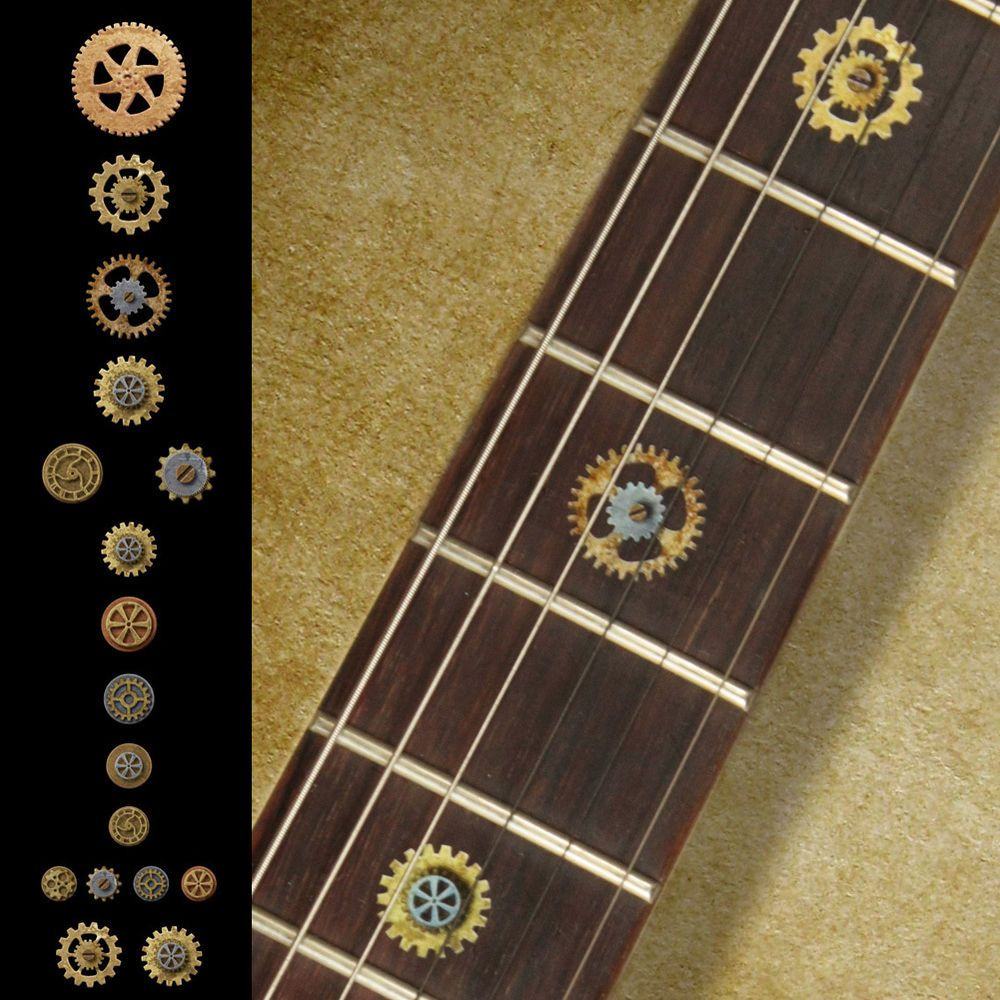 Roman Numeral Block Fretboard Markers Inlay Sticker Decals for Guitar /& Bass