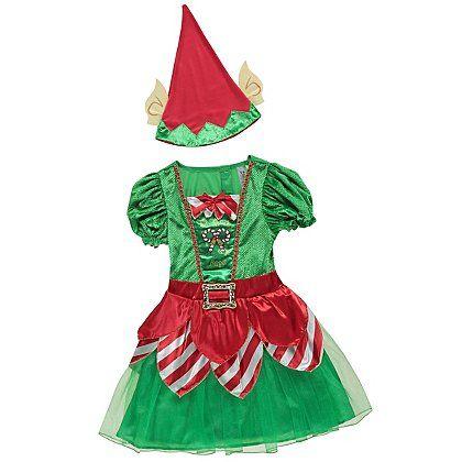 Christmas Miss Elf Fancy Dress Costume | Kids | George at ASDA  sc 1 st  Pinterest & Christmas Miss Elf Fancy Dress Costume | Kids | George at ASDA ...