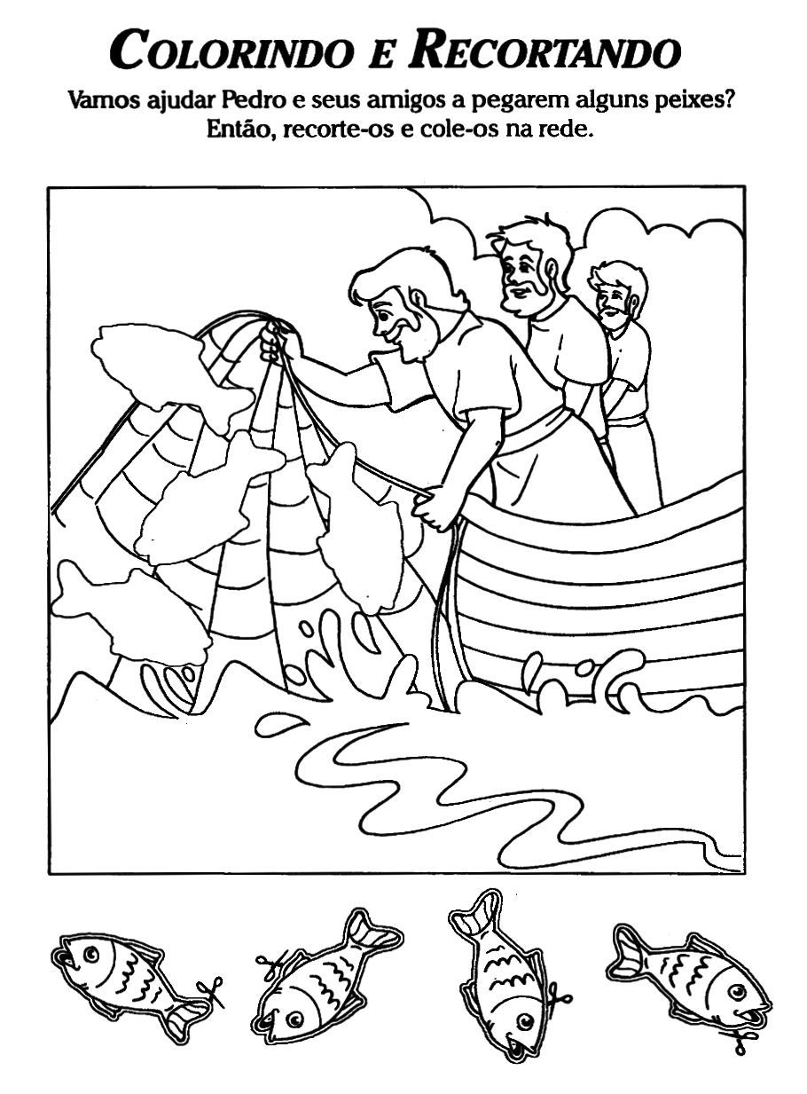 fishers of men coloring page pre k sunday pinterest