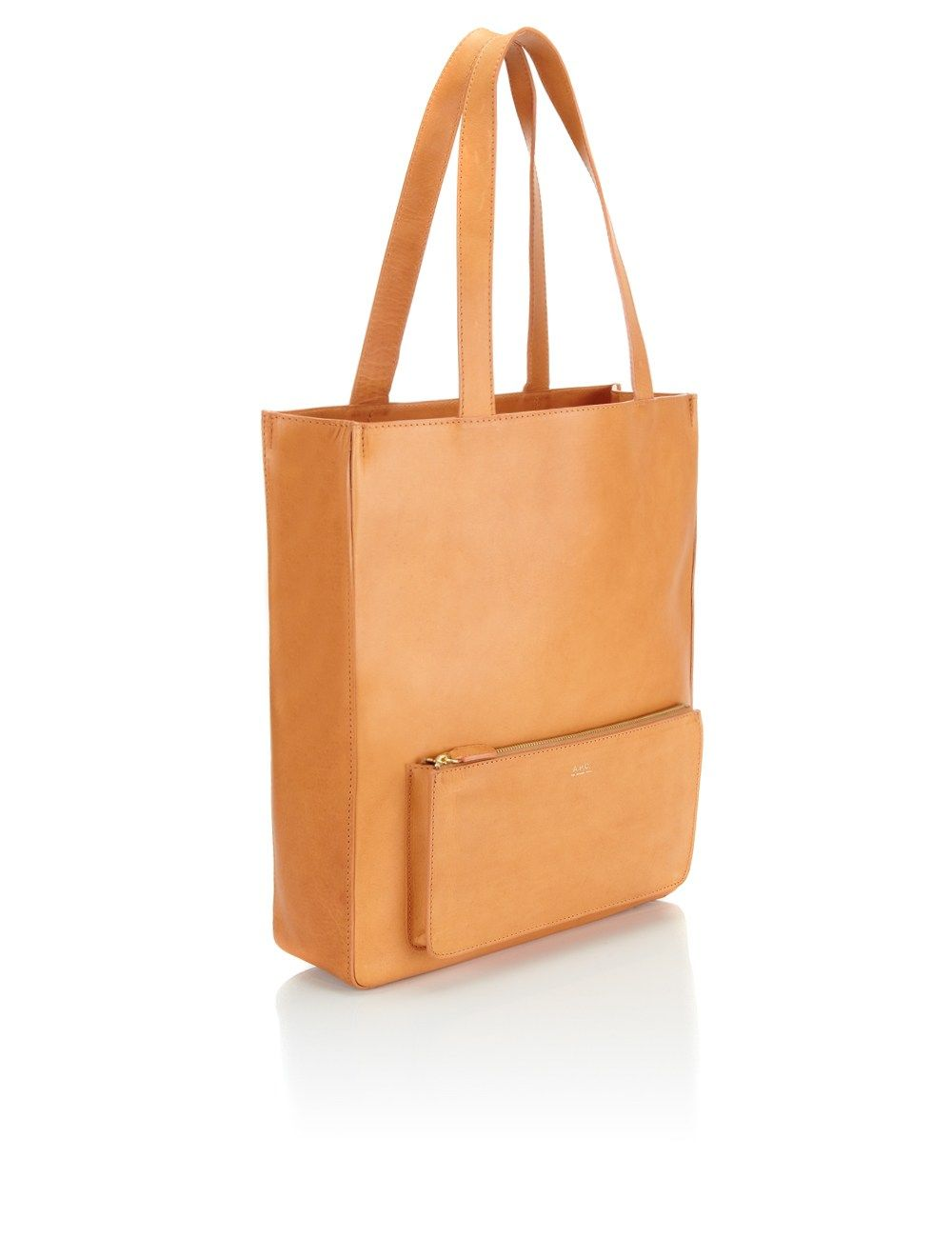 Natural Leather Tote Bag A P C