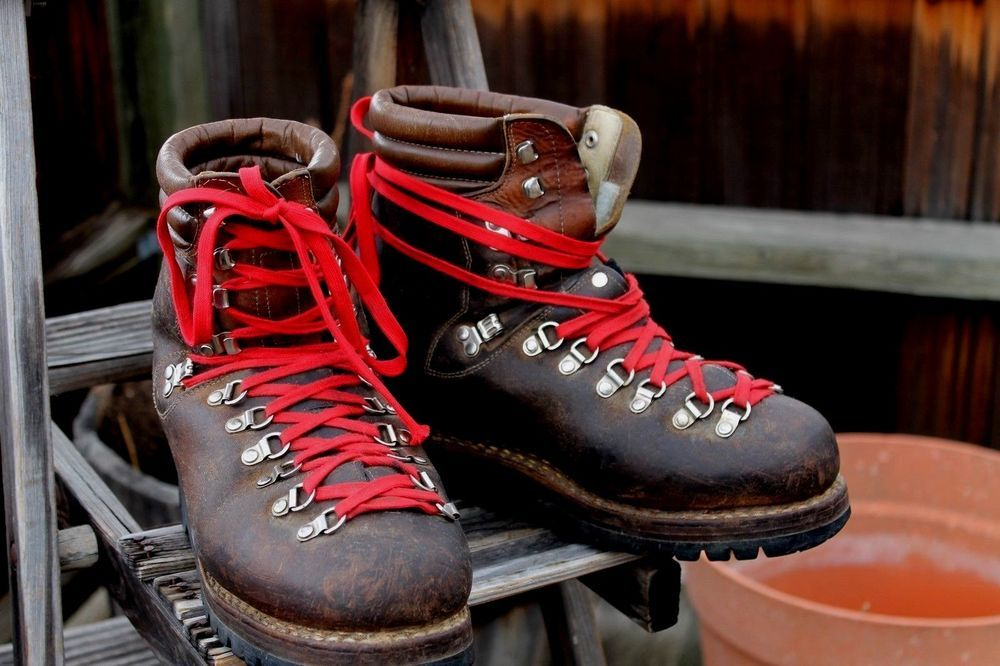 44bf3e99447 Vintage Lowa Mountaineering Hiking Boots Mens 9.5 N Made In Germany ...