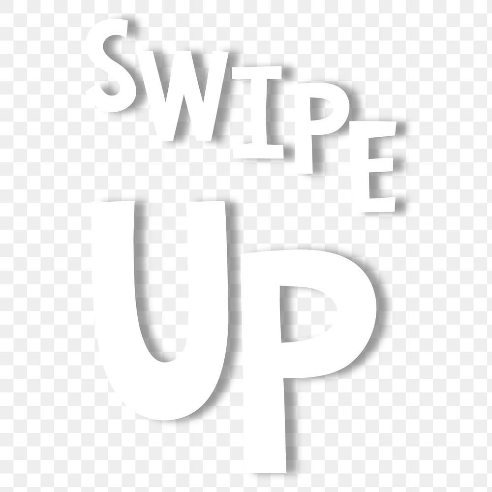 White Swipe Up Doodle Typography Design Element Free Image By Rawpixel Com Pam Typography Design Design Element Typography