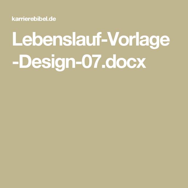 Lebenslauf Vorlage Design 07docx Bewerbung Pinterest