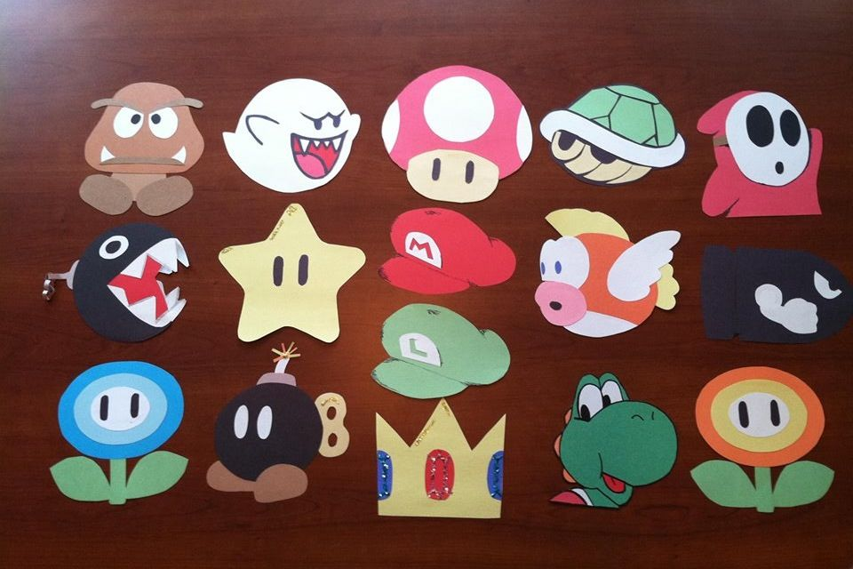 Mario themed door tags ra pinterest door tags for Mario decorations