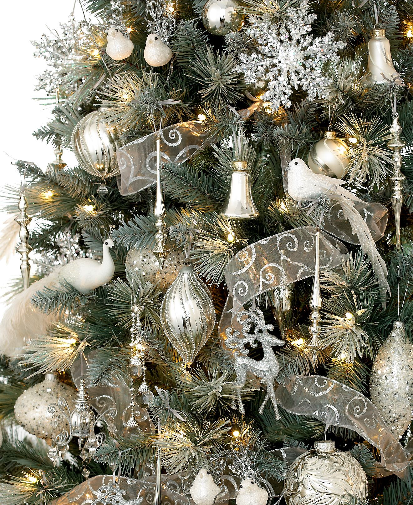Winter Themed Christmas Decorations: Holiday Lane Christmas Ornaments, Winter Wonderland Tree