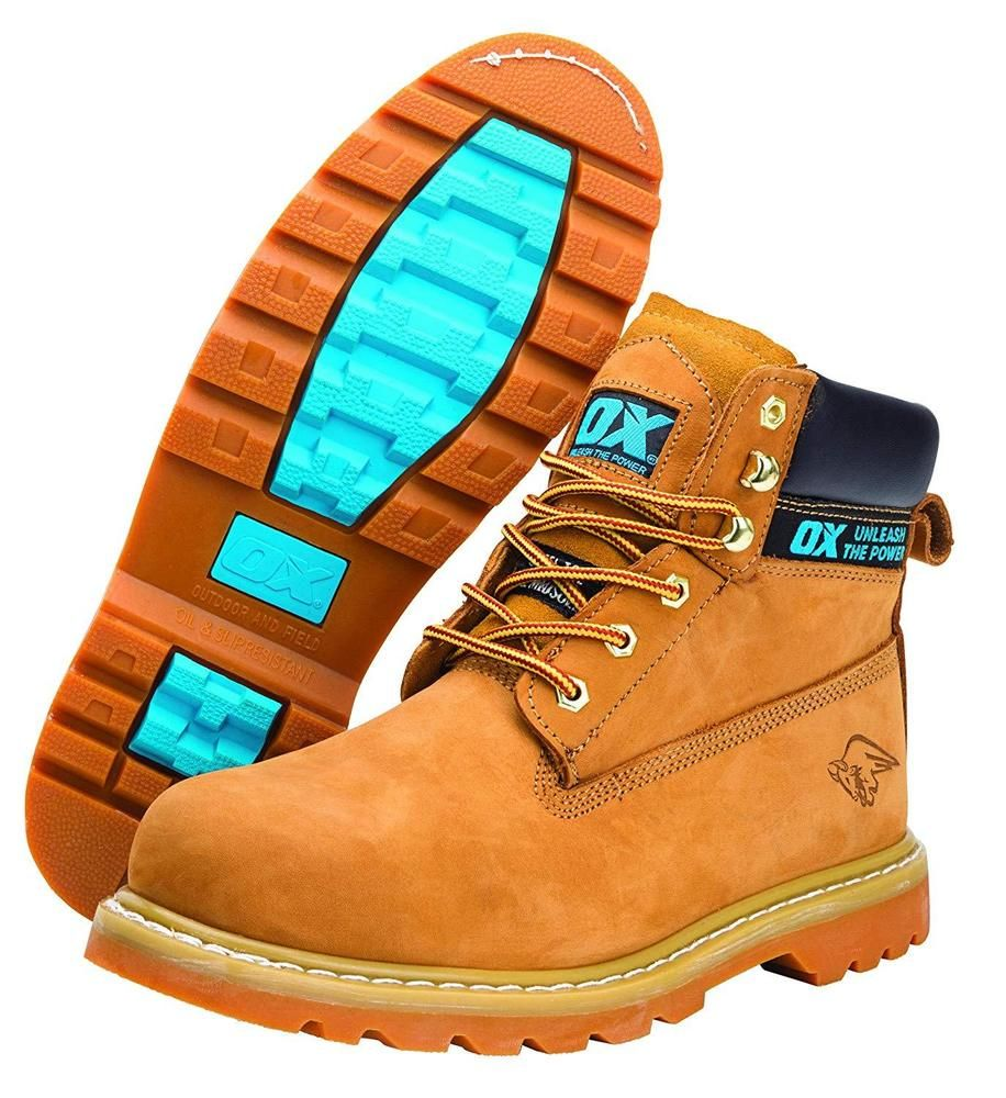 ironía Mil millones Ridículo  OX Safety Boots-Industrial Grade Honey Nubuck Safety Boots with Steel Toe  Cap-10 #ox | Boots, Safety boots, Steel toe