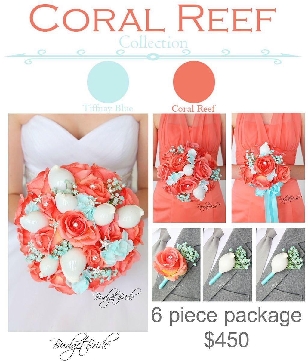 Lake Wedding Ideas: Coral Reef Davids Bridal Wedding Flowers Beach Ideas Sea