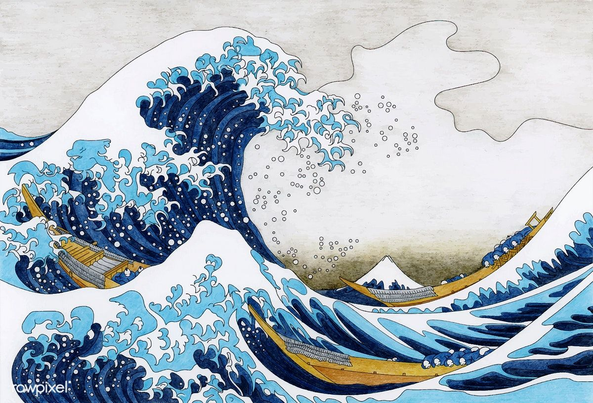 Hokusai 39 s The Great Wave Of Kanagawa adult coloring page