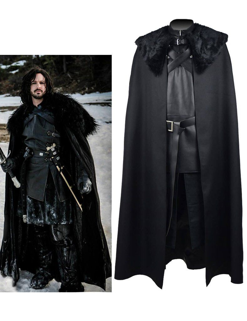 Popular Exclusive Game of Thrones Jon Snow Cosplay Costume Full Suit Customize