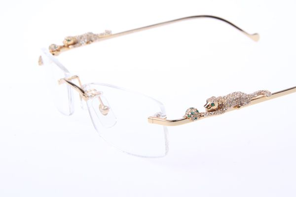 18047c9d47a8 cartier gold frame glasses Panthere 2012 SERIES LIMITED 6384083 Diamond Eyeglasses  In Gold