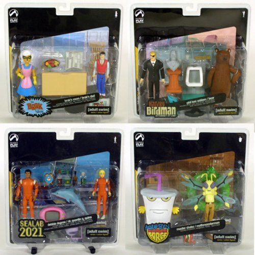 Adult Swim Series 1 Action Figure 2 Packs Set Of 4 By Palisades
