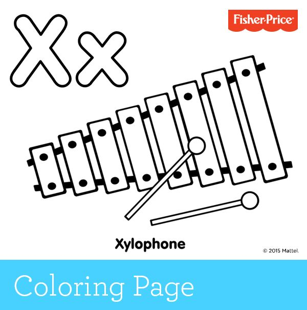 X Is For Xylophone What Sound Does A Xylophone Make Take The Opportunity To Ask Preschool Coloring Pages Homeschool Preschool Activities Rainbow Activities