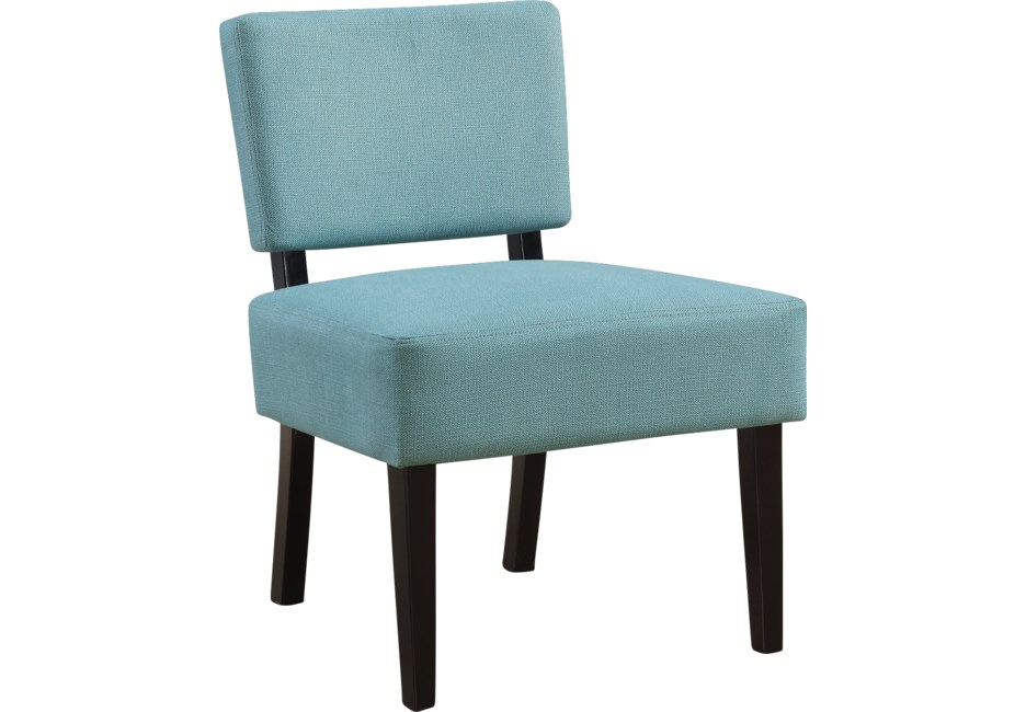 Crestover Teal Accent Chair Fabric Accent Chair