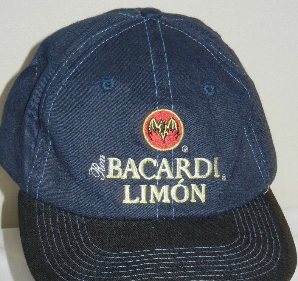 b7db99d22ee43 Bacardi Limon Cap Hat Strapback Blue Black Rum Liquor Embroidered ...