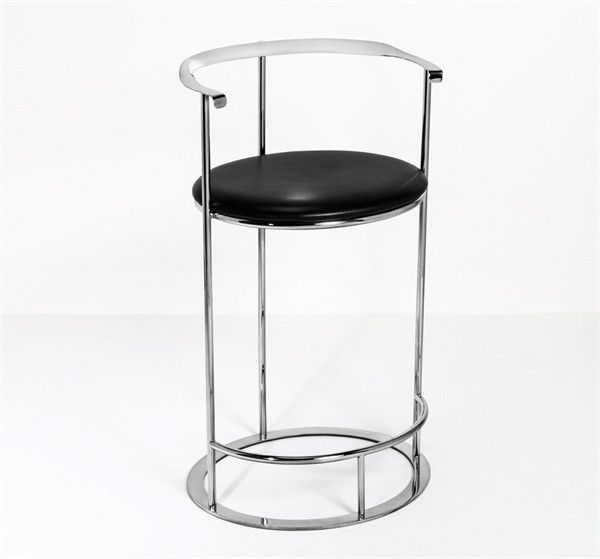 Interlude Hayes Barstool. Sleek metal meets rich black leather in the groovy-chic Hayes Barstool. – Modish Store