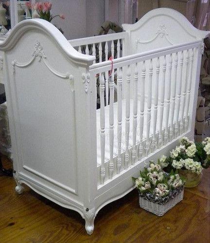 French Style Mahogany Crib Baby Furniture Cribs