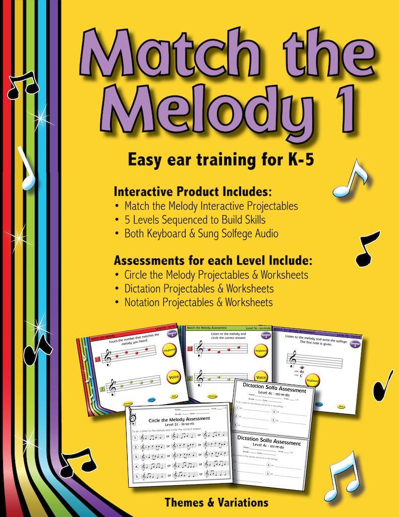 Match The Melody 1 Teacher Guides Melody Teaching Music