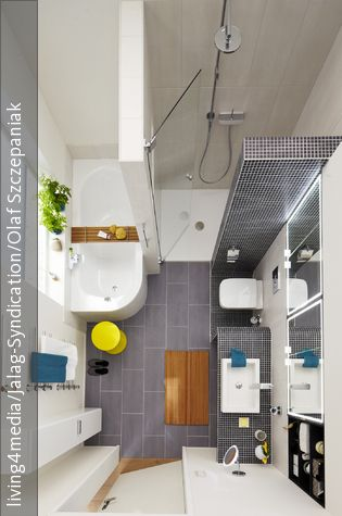 Kleines Badezimmer Edel Einrichten | Wände Und Modern Freistehende Badewanne Einrichten Modern