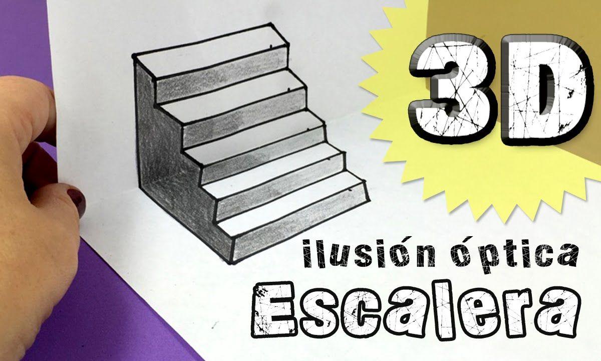 Ilusiones Opticas Escalera En Tres Dimensiones 3d Ilusiones Opticas Opticas Como Hacer Dibujos