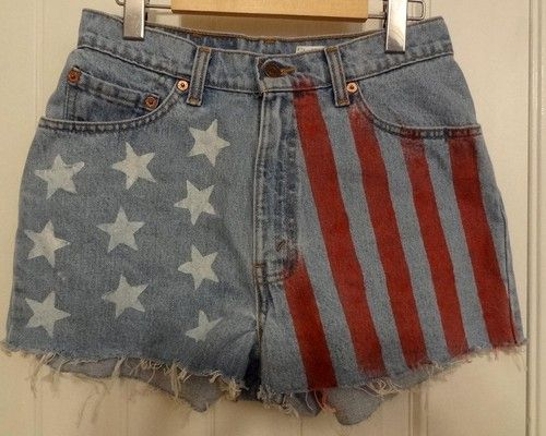Followed the tutorial for these DIY American Flag shorts...they came out pretty well. You can make them yourself or buy them from my store on Ebay!