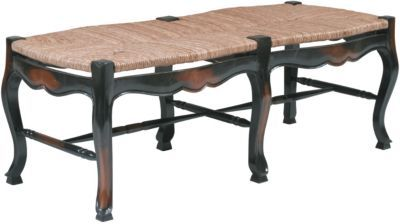 St. Remy Rush Seat Bench - Benches, Furniture, Home Decor | Soft Surroundings
