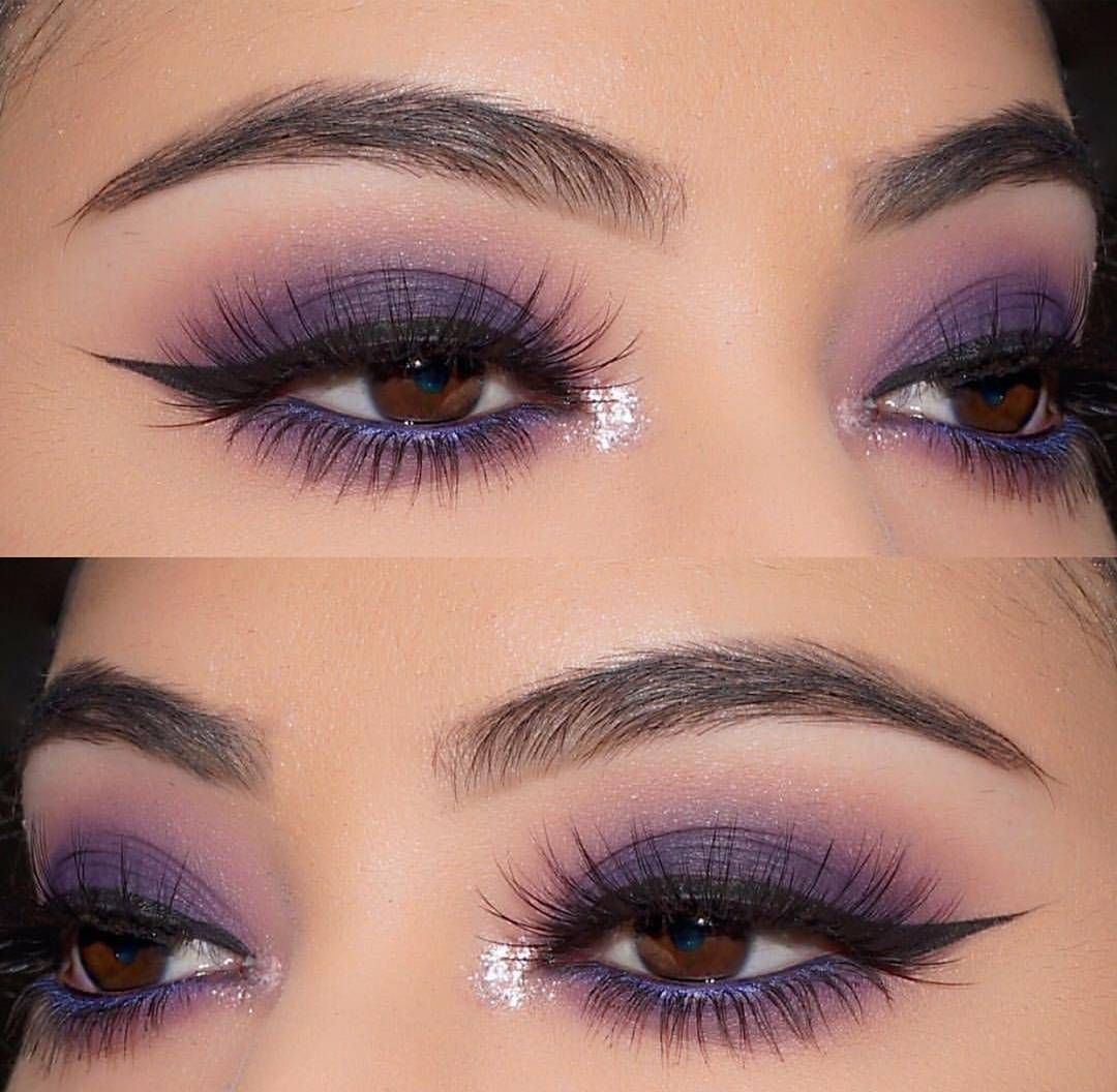 A Soft Purple Smokey Eye From Alyssa Camille She Reached For The Undeniably Stunning Shades From The 3 Purple Smokey Eye Smoke Eye Makeup Blue Eye Makeup