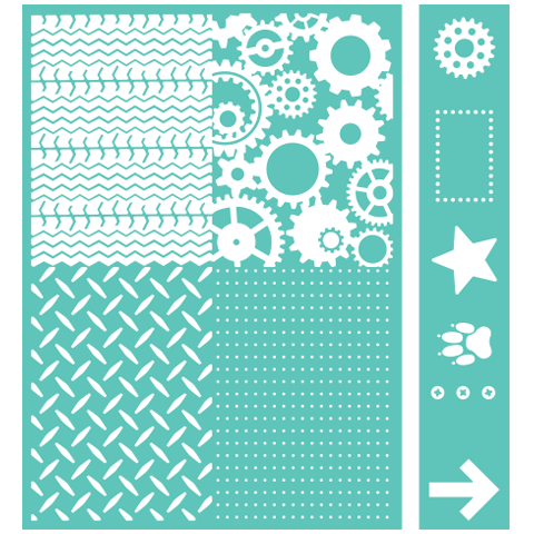 I really want the Diamond Plate (bottom left) embossing folder)  Cuttlebug™ Embossables Pattern & Icon Folder, Being a Boy