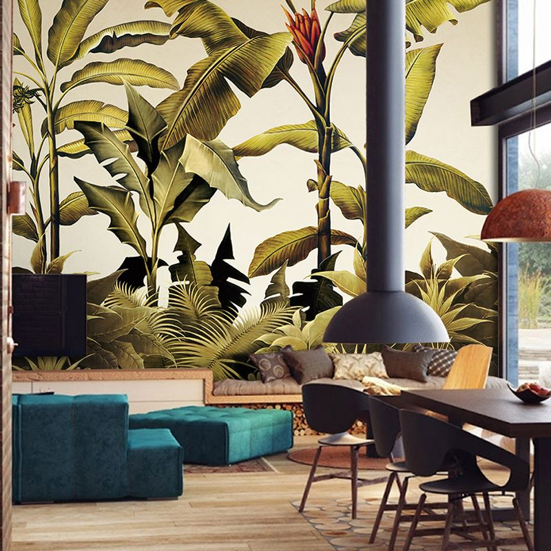 Free Shipping Southeast Asian Tropical Green Plant Wallpaper Living Room TV  Backdrop Wallpaper Mural Wall Painting