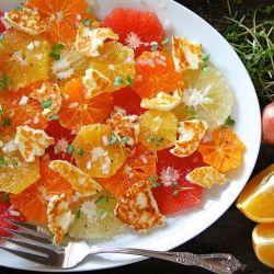 Citrus Salad with Halloumi