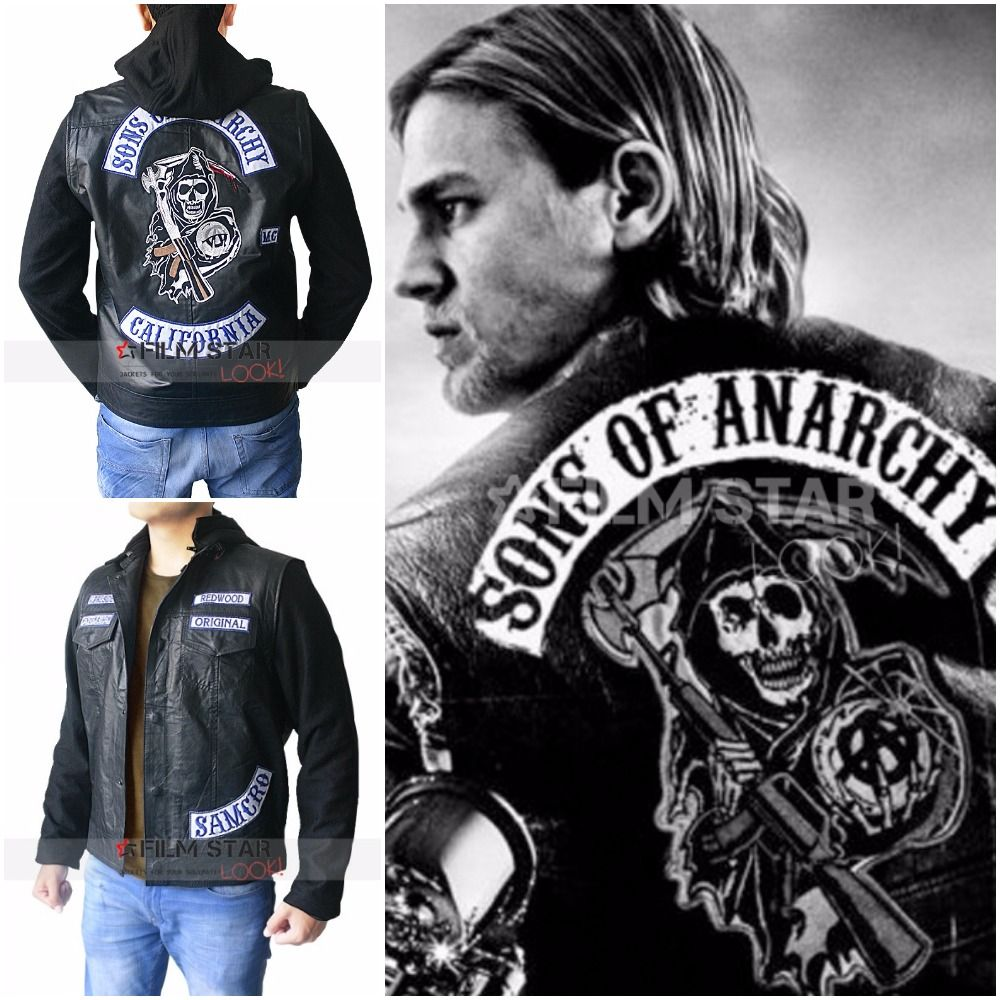 Blouson cuir style sons of anarchy
