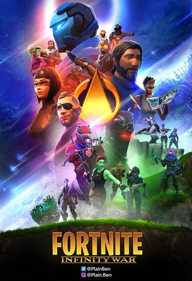 Fortnite Infinity War Poster Fortnite Epic Games Games Und Game Art