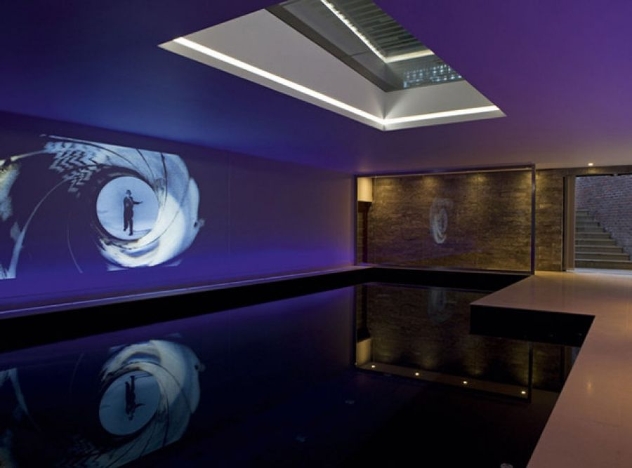 Indoor swimming pool meets movie theater and the results - Swimming pools in kingston upon thames ...
