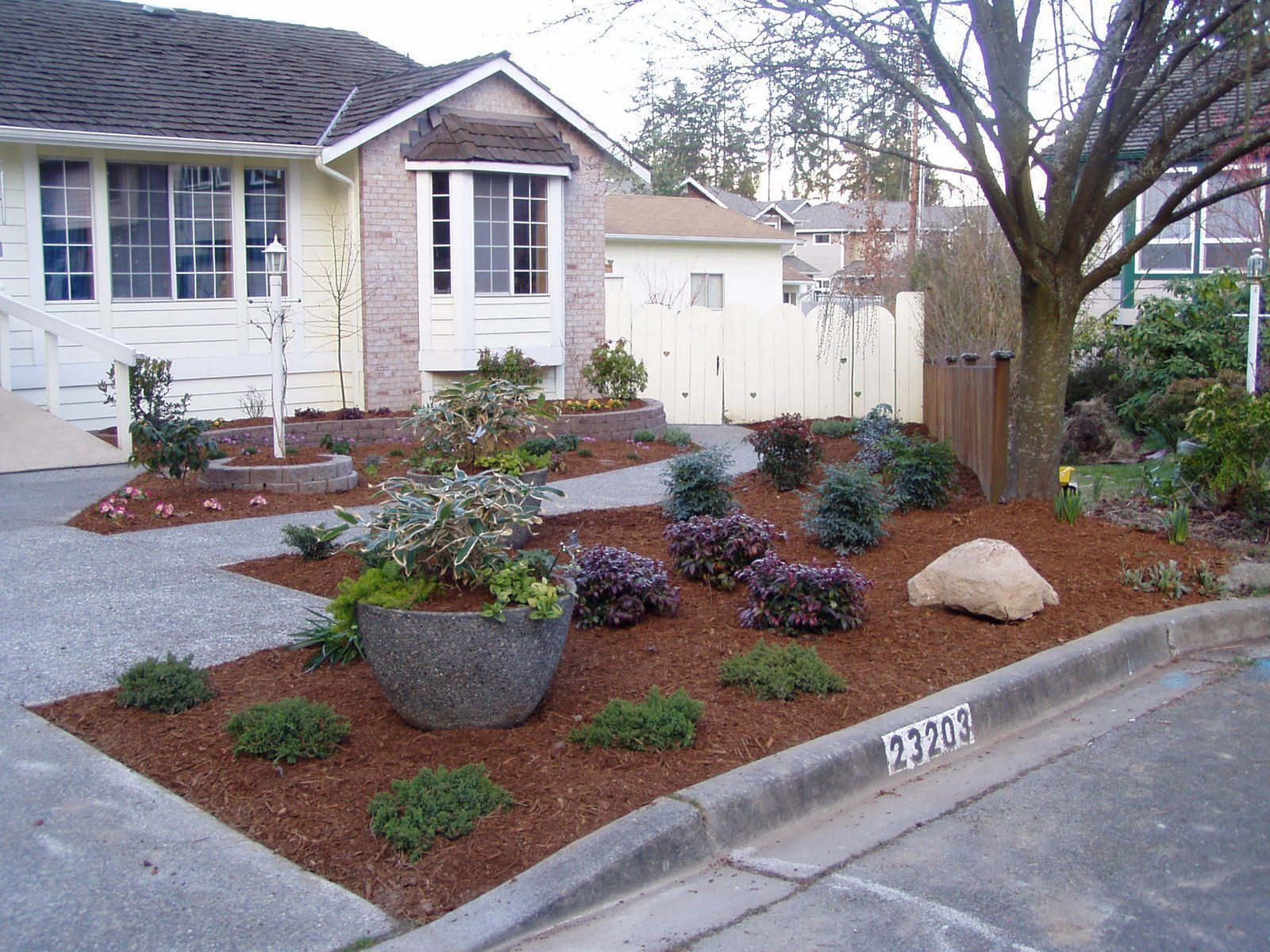 no grass landscaping - Bing Images … | Small front yard ... on Cheap No Grass Backyard Ideas  id=27259