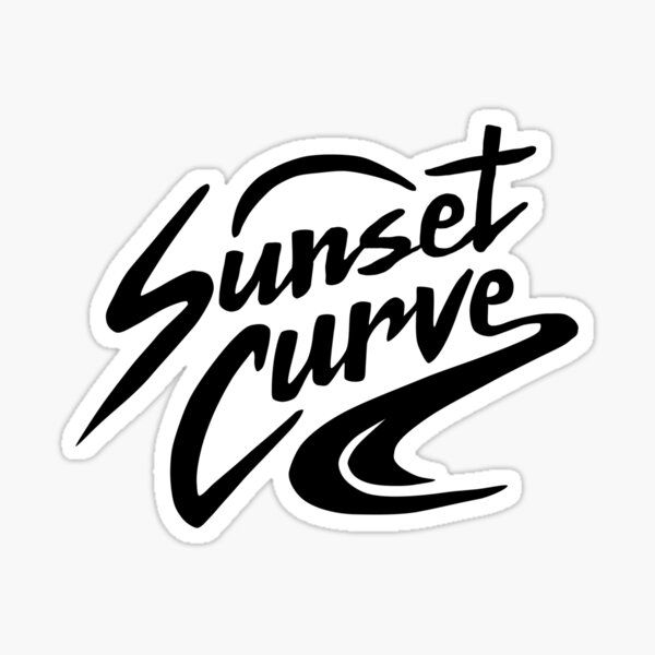 'Sunset Curve Logo' Sticker by KassV1019