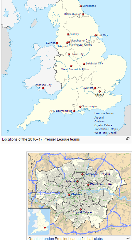 Tottenham London Map.Mapping Out All 20 Premier League Teams Soccer Pinterest
