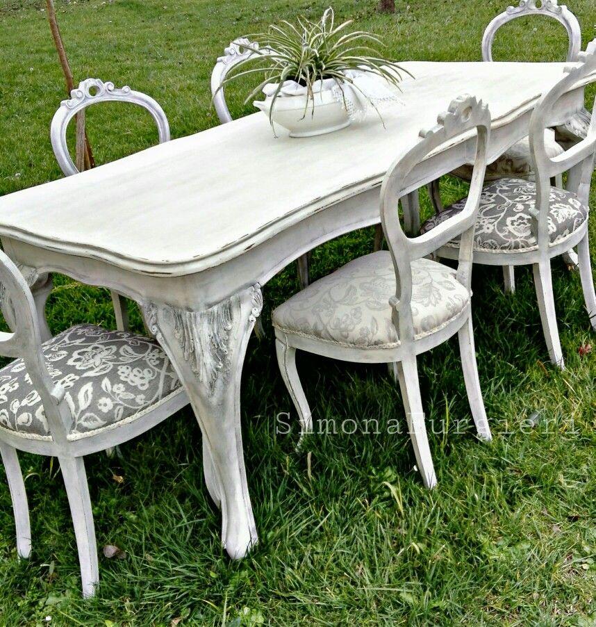 Tavola e sedie shabby chic chairs pinterest sillas for Tavola e sedie