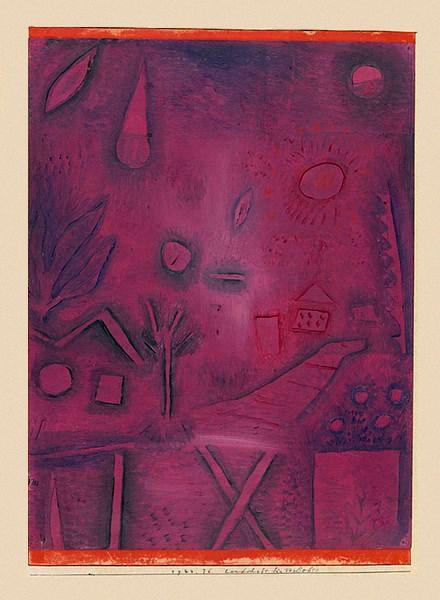 Paul Klee - Landscape for Lovers, 1924