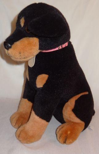 Doberman Pinscher Rottweiler Dog Plush Stuff Animal 15 Peepah Pals