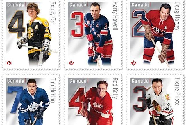Canada Post's 2014 NHL commemorative stamps (courtesy Canada Post)